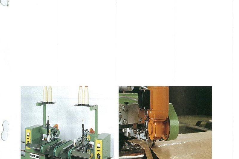 Furnierendverklebemaschine Kuper Typ EMZ-2-M
